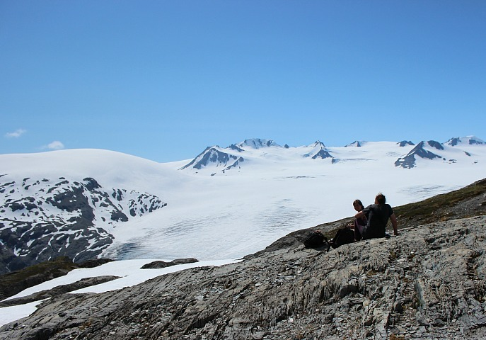 Views from the top of the Harding Icefield