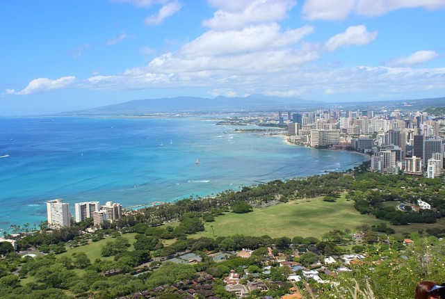 Views over Waikiki from Diamond Head