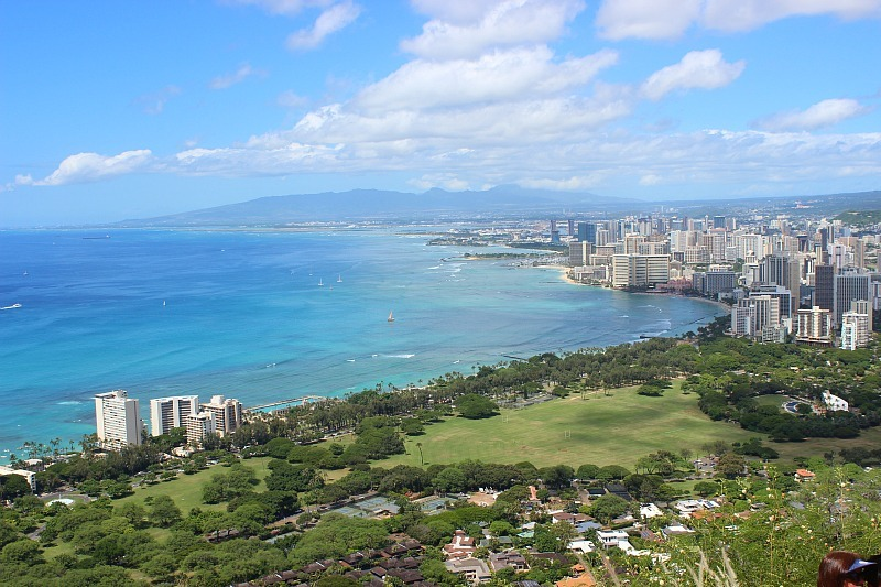 Views over Waikiki from Diamond Head during month four of digital nomad life