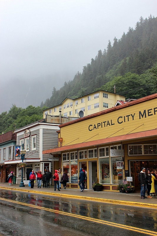 Beautiful Juneau in the rain
