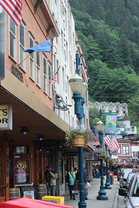 Downtown Juneau in the rain
