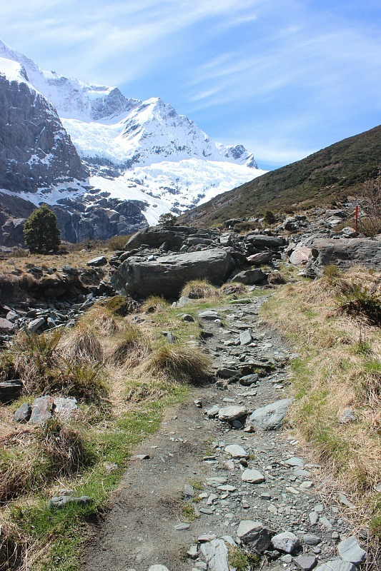 Hiking in Mt Aspiring National Park during month five of digital nomad life