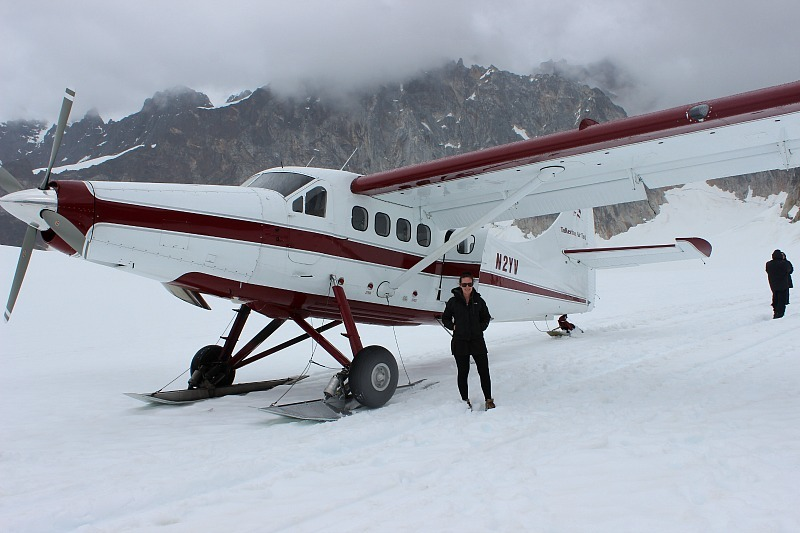 Landed on a glacier during while Denali Flightseeing