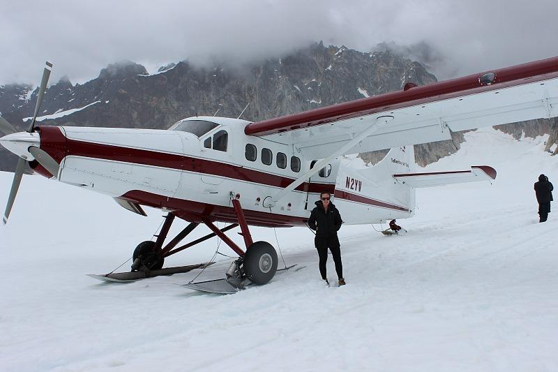 Landed on a glacier during a Denali Flightseeing Tour