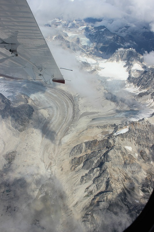 Mighty glaciers in the Alaska Range from my Denali Flight Tour