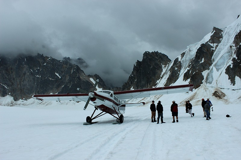 Our plane on the Pika Glacier