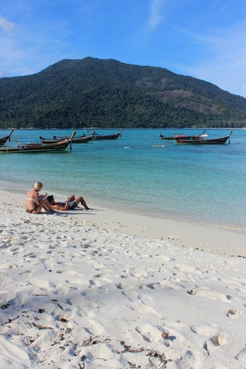 Lazing on Sunrise beach on Koh Lipe during month five of digital nomad life