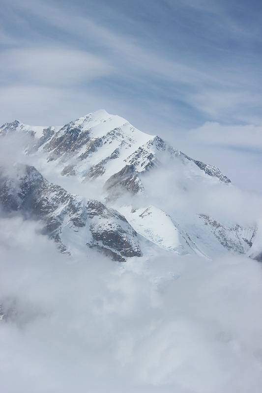 The summit of Denali from Flightseeing Denali Tour