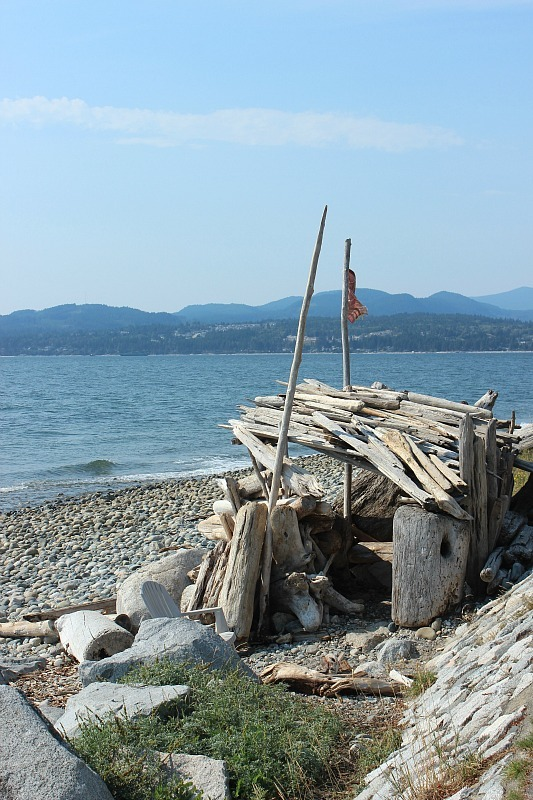 Beach fort on the Sunshine Coast BC