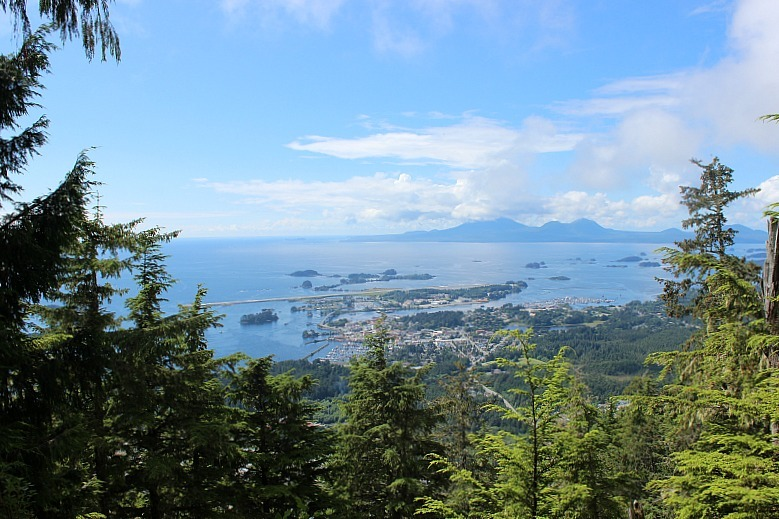 First viewpoint from Mount Verstovia - a Sitka hiking trail in Alaska