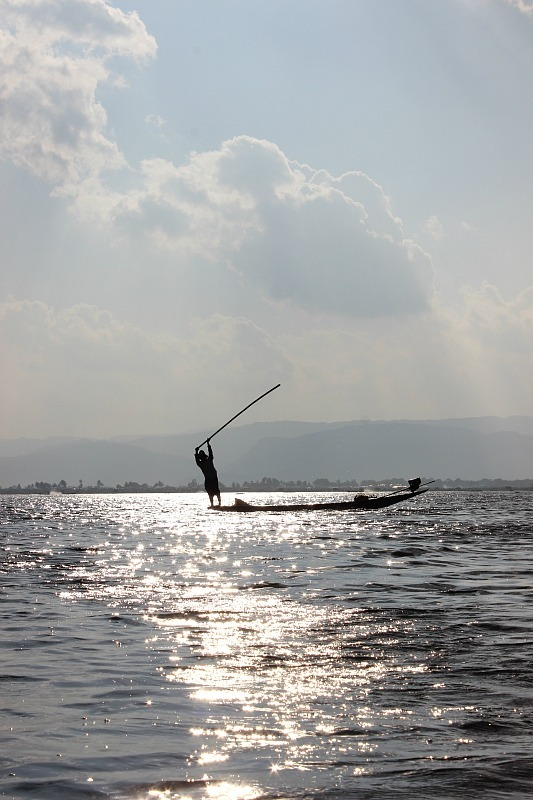 Fisherman on Inle Lake