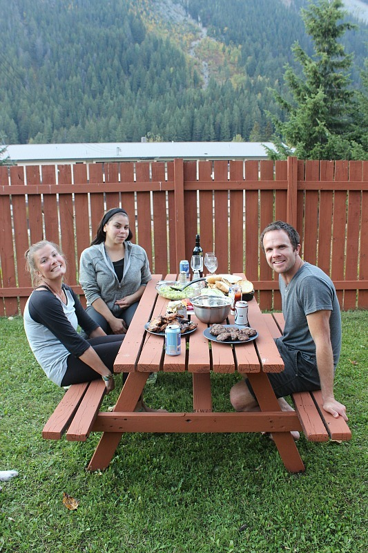 Friends and family in Field BC