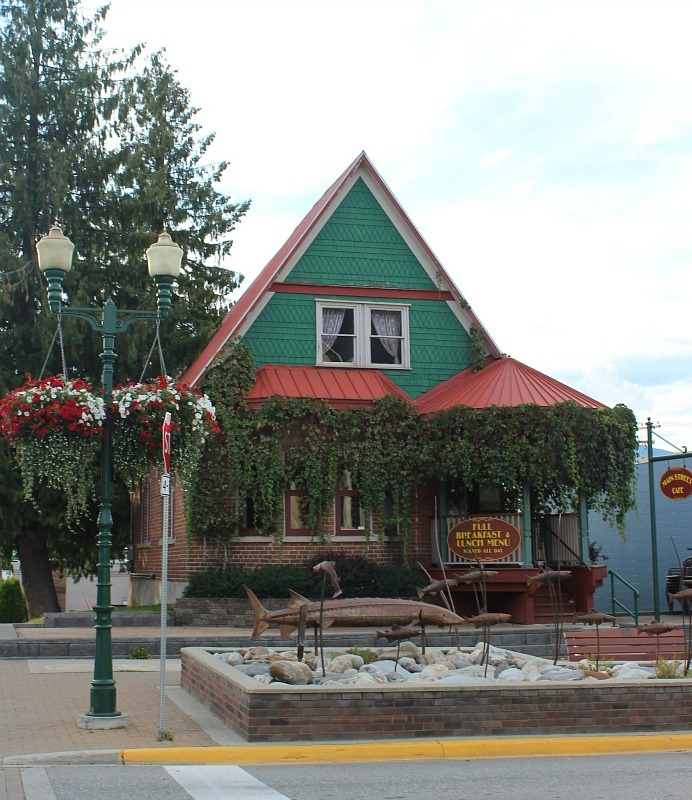 Main street Cafe in Revelstoke Canada