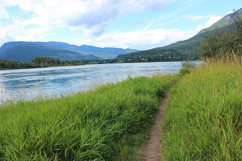 Riverside path in Revelstoke Canada