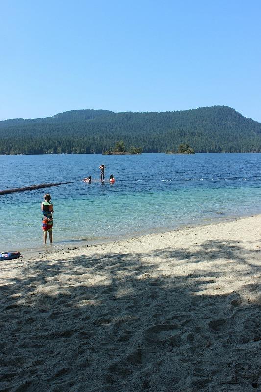 Ruby Lake on the Sunshine Coast BC