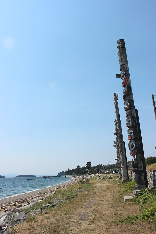 Sechelt totems on the Sunshine Coast BC