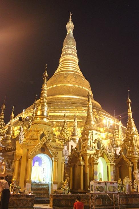 Shwedagon Pagoda lit up during month six of digital nomad life