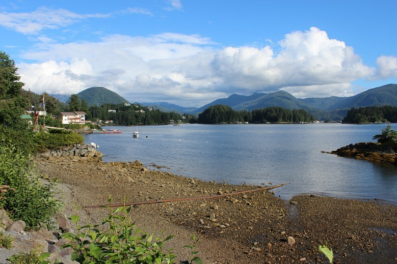 Waterfront on the way to the hiking Sitka trail up Mount Verstovia