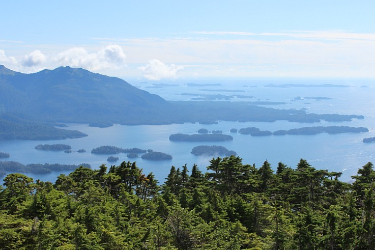 Stunning Sitka Sound from Mount Verstovia in Alaska
