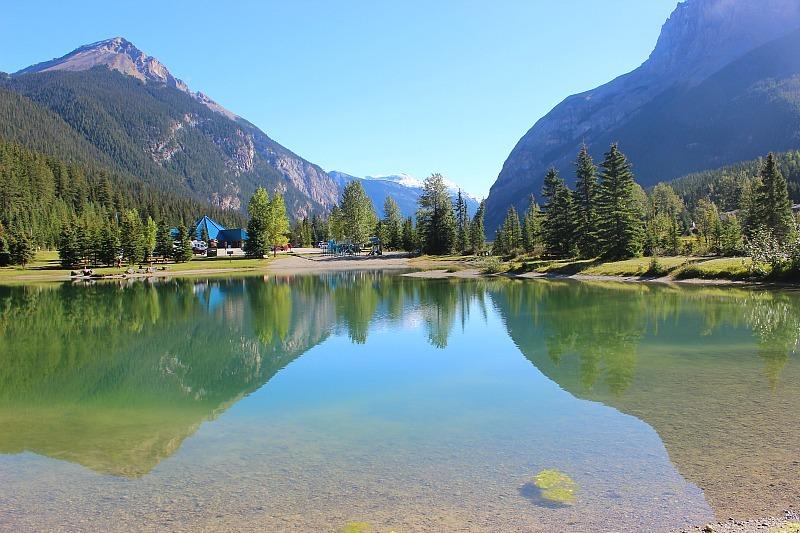 The pond in Field, BC where the locals swim