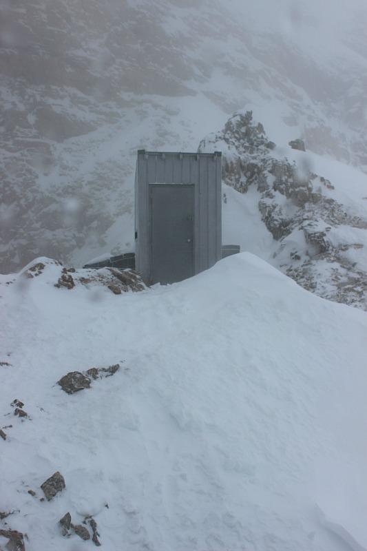 Abbot Pass outhouse