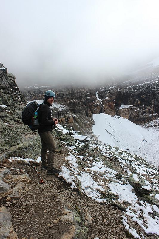 Heading up to Abbot Pass Hut