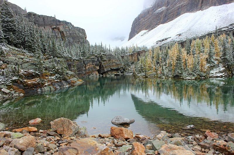 Lake on way to Abbot Pass Hut