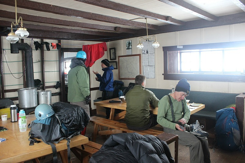 Life inside Abbot Pass Hut
