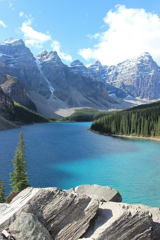 Moraine Lake in Banff National Park- the start of the Larch Valley Hike