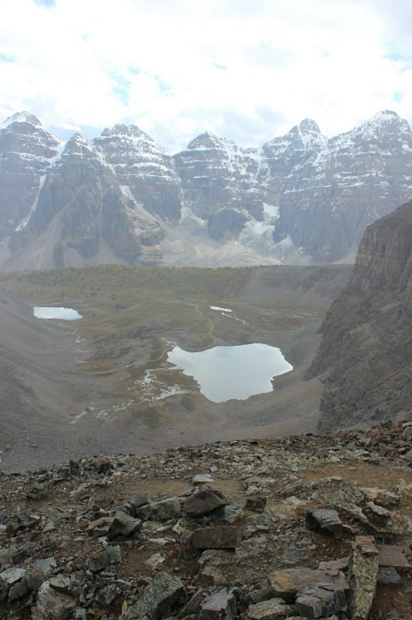 View from the top of the Sentinel Pass trail in Banff National Park