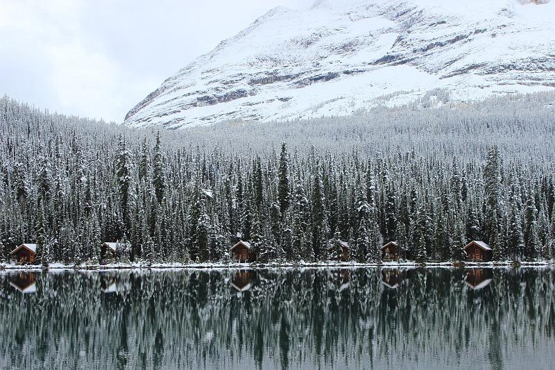 Wintery Lake O'Hara on way back from Abbot Pass Hut