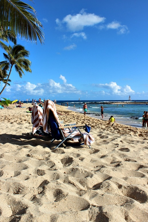 Beautiful Poipu beach on Kauai, the Garden Island