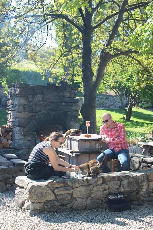 Cardrona Hotel garden in Otago