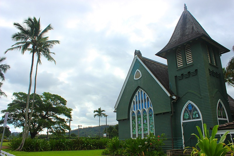 Hanalei Church on Kauai, the Garden Island