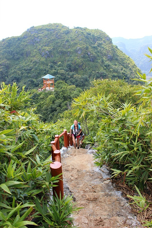 Hiking in Cat Ba Island National Park during month seven of digital nomad life