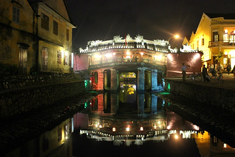 Japanese bridge in Hoi An during month seven of digital nomad life