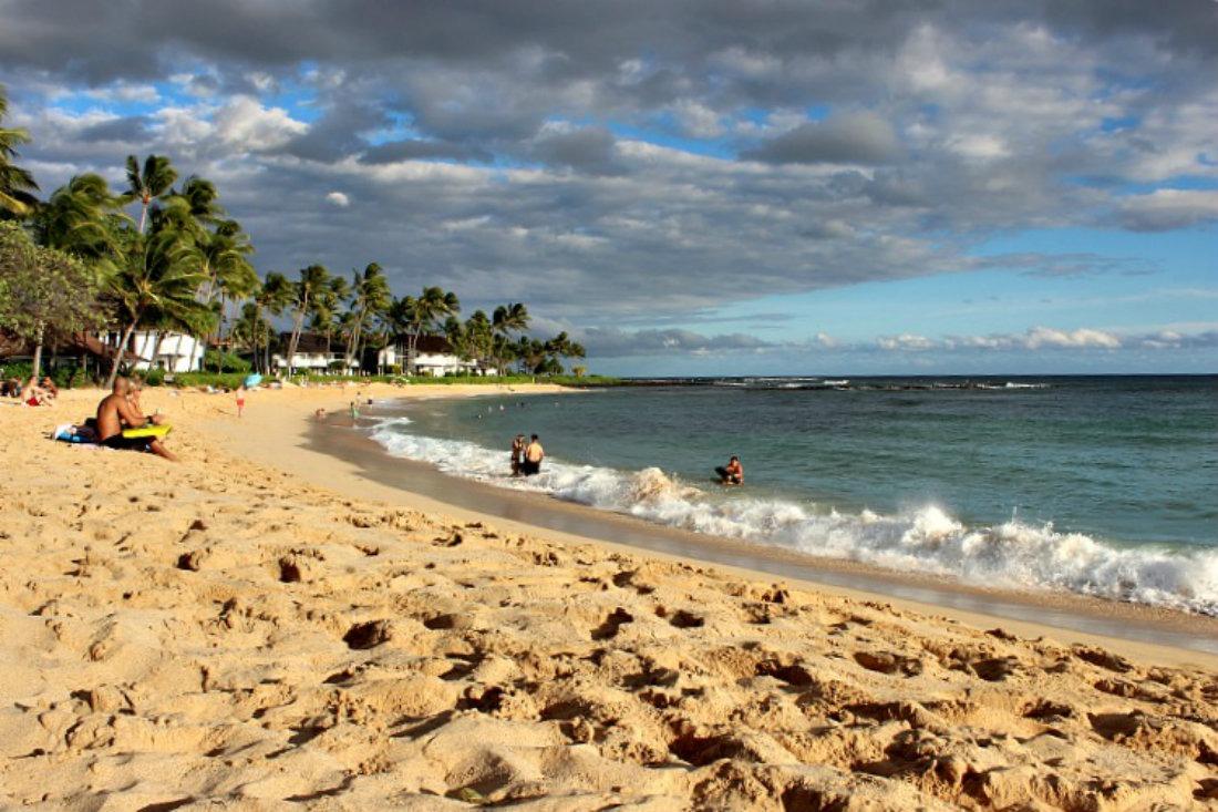 Stunning Poipu Beach in Kauai