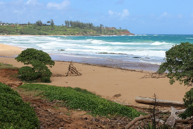 Kealia Beach on the Kauai Coastal path