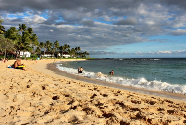 Poipu beach on the Garden Island