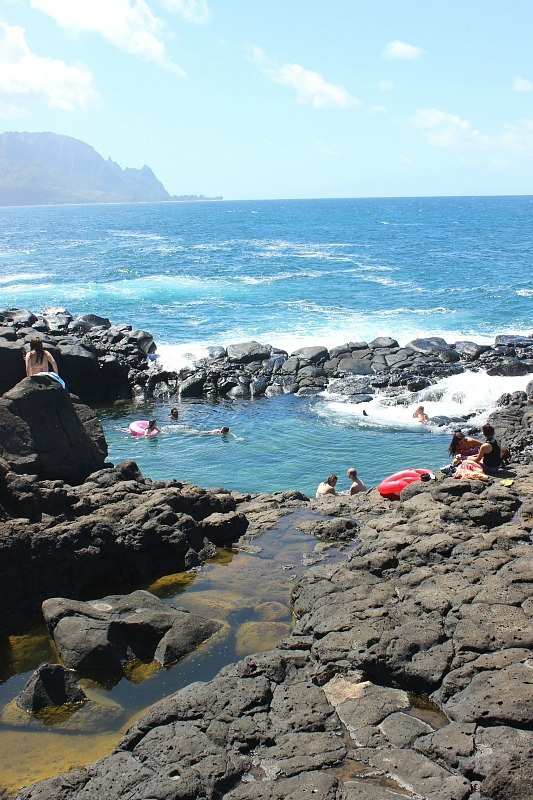 Queens Bath on Kauai, the Garden Island