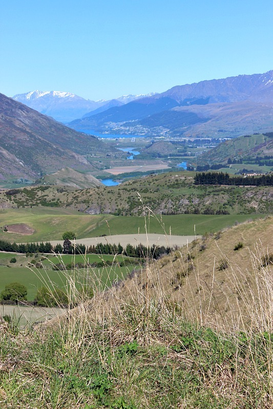 Queenstown from the Crown Ranges in Otago