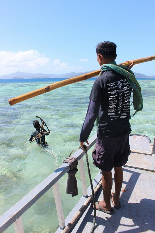 Trying to get us off the reef near Coron during month eight of digital nomad life