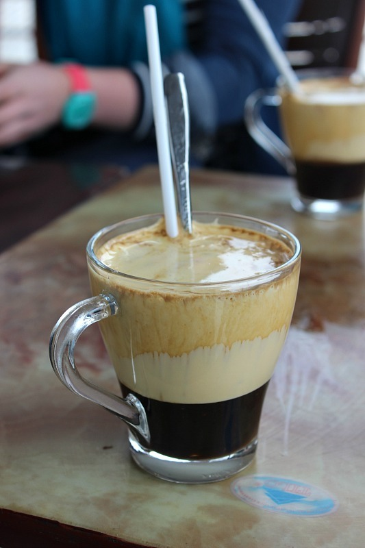 Trying Vietnamese egg coffee during month eight of digital nomad life