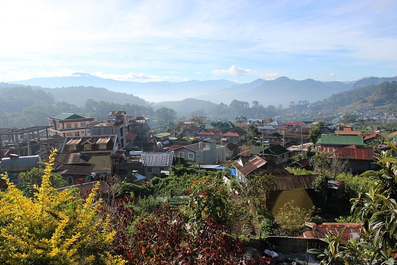View over Sagada from our guesthouse during month seven of digital nomad life