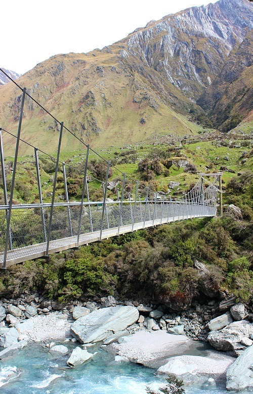 Crossing the Matukituki river