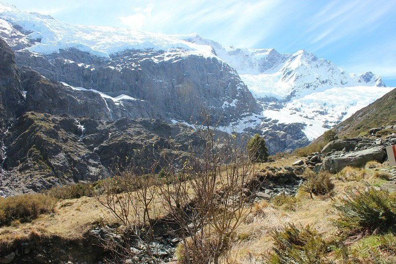 The glaciers of Mount Aspiring