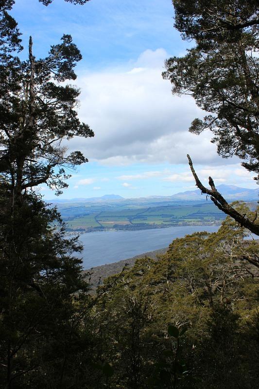 View over Lake Te Anau on the Kepler Track