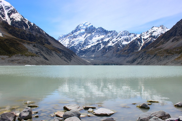 View to Mount Cook from the Hooker Valley Track