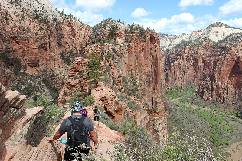 Hiking Angels Landing in Zion National Park during month 10 of digital nomad life