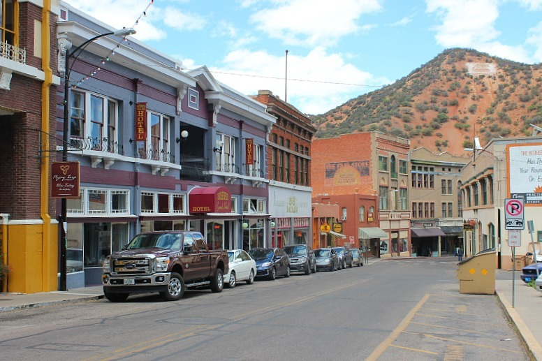 Visting Downtown Bisbee, Arizona during month 10 of digital nomad life